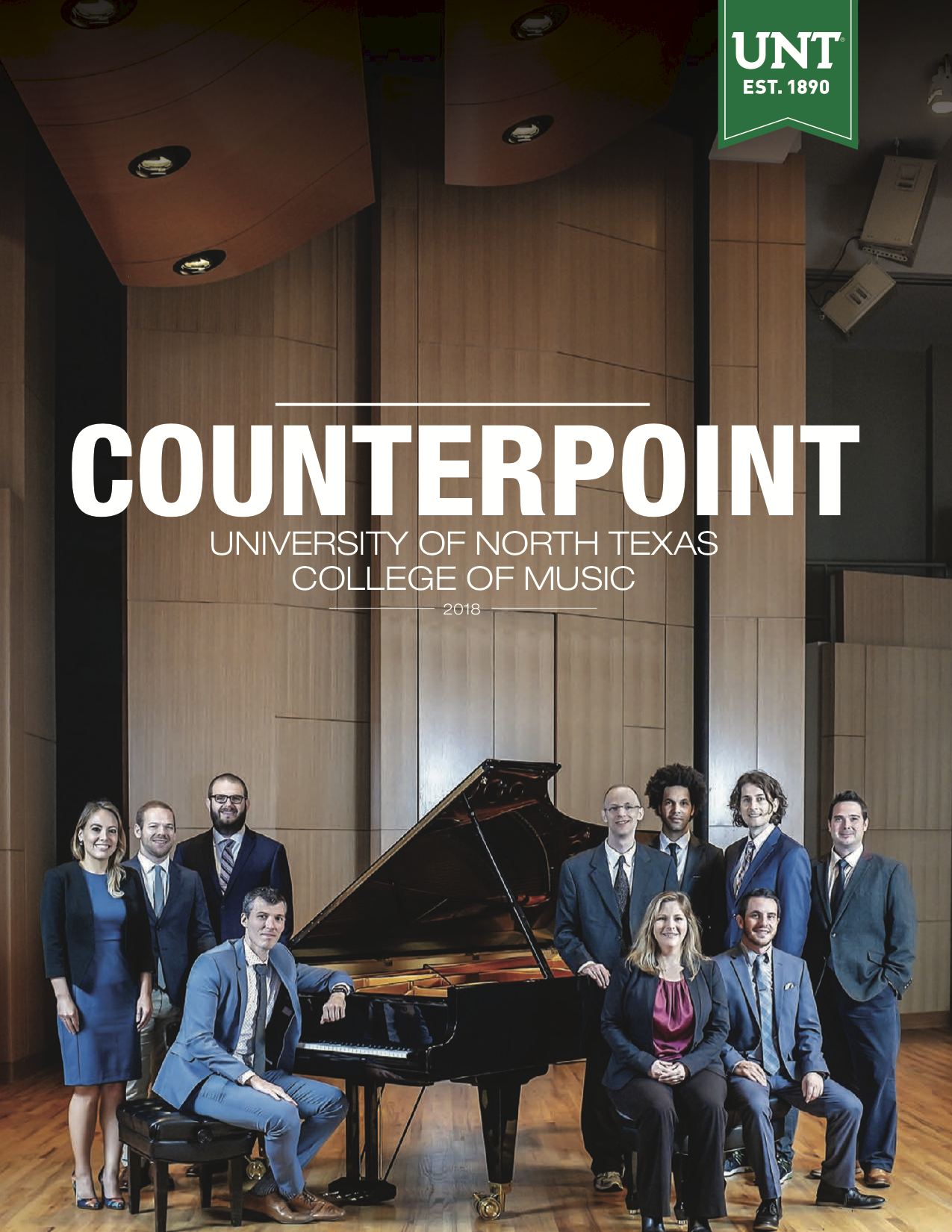 Counterpoint 2018 Front Cover, Featuring UNT Faculty